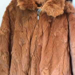 Men's 4XL genuine fur coat with removable hood